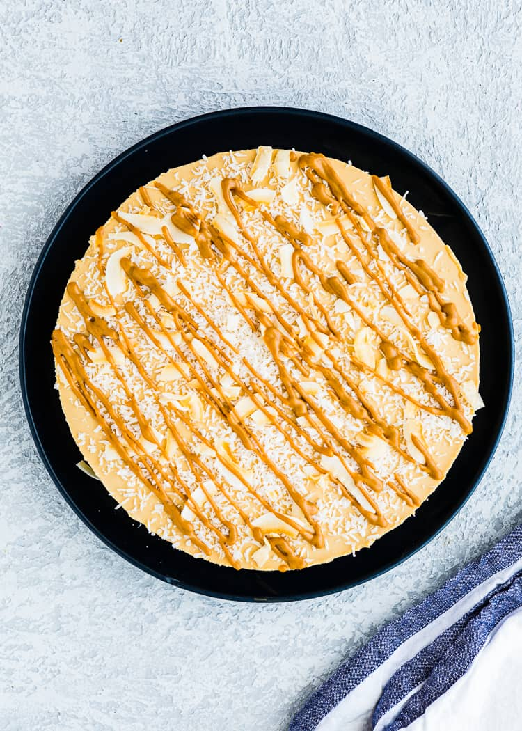 how to make dulce de leche cheesecake step 5