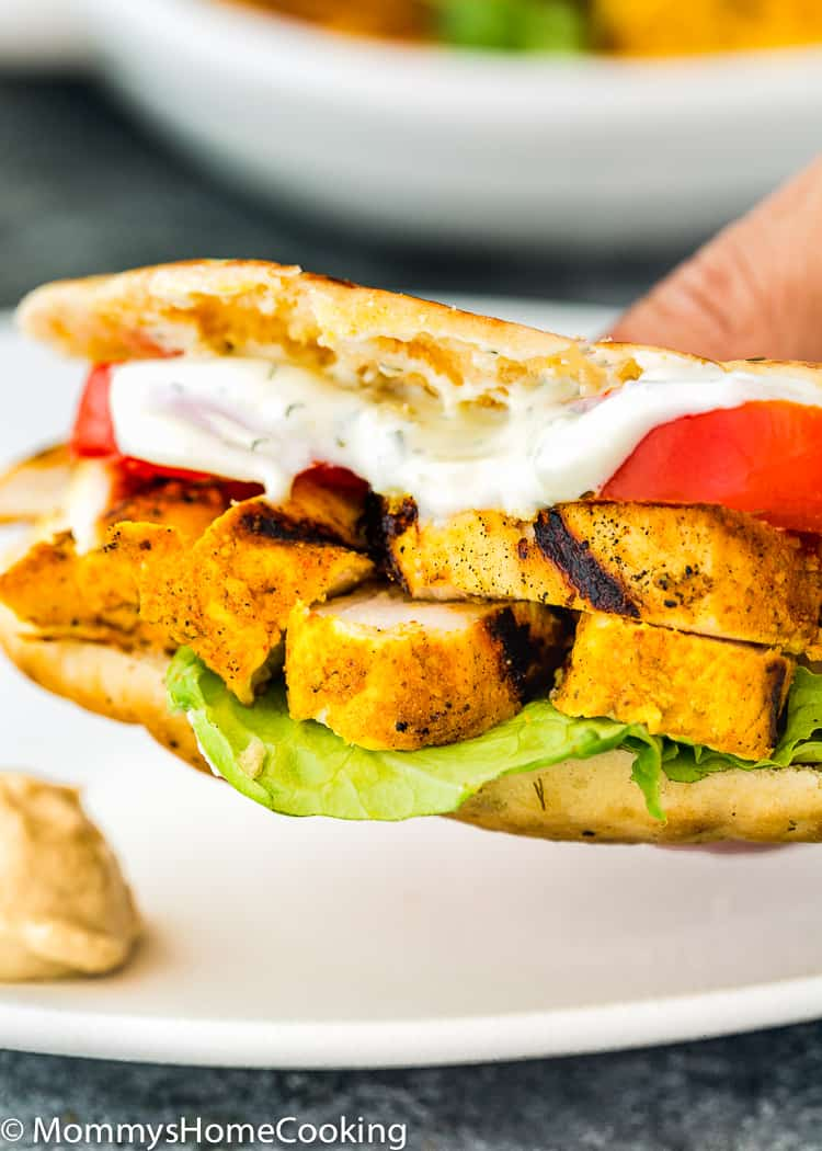 Grilled Chicken Shawarma Pita sandwich