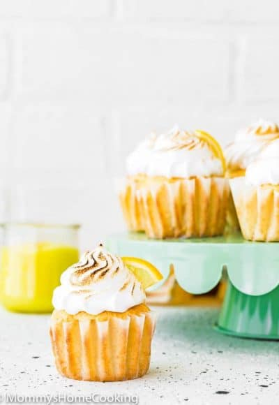 Eggless Lemon Meringue Cupcake