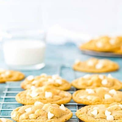 Eggless White Chocolate Chip Cookies