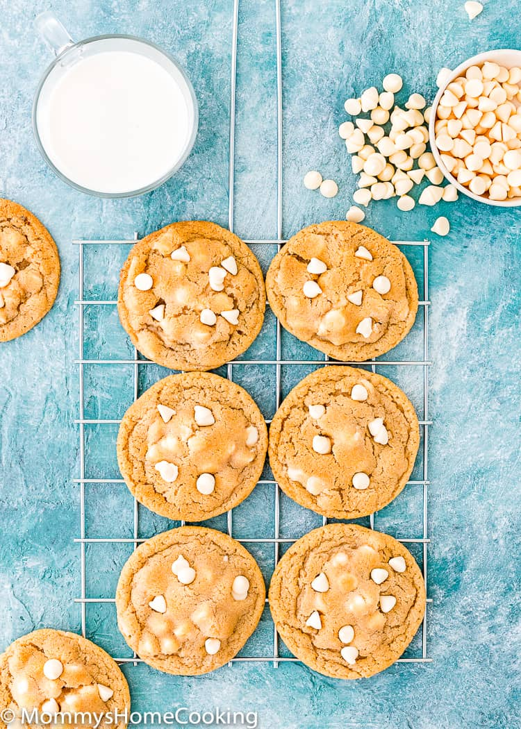 Eggless White Chocolate Chips Cookies