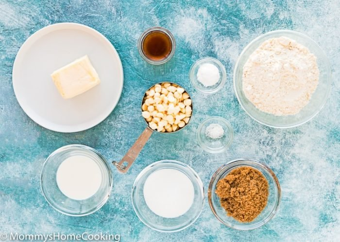 Eggless White Chocolate Chips Cookies Ingredients