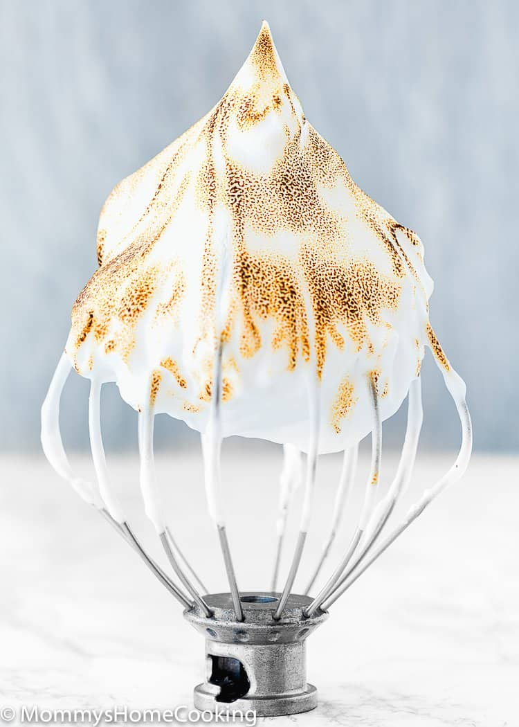 eggless meringue in a whisk attachment