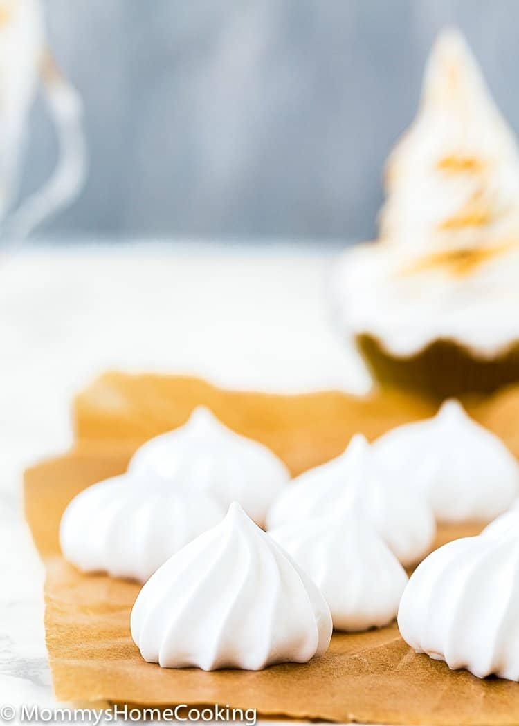 pipped eggless meringue