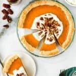 Easy Eggless Sweet Potato Pie sliced