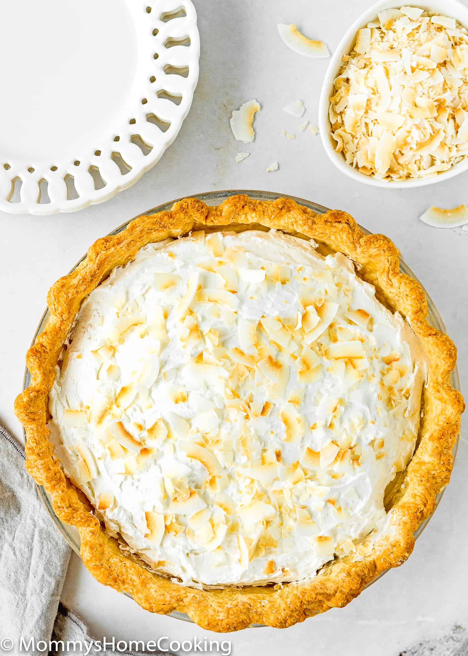 Eggless Coconut Cream Pie whole