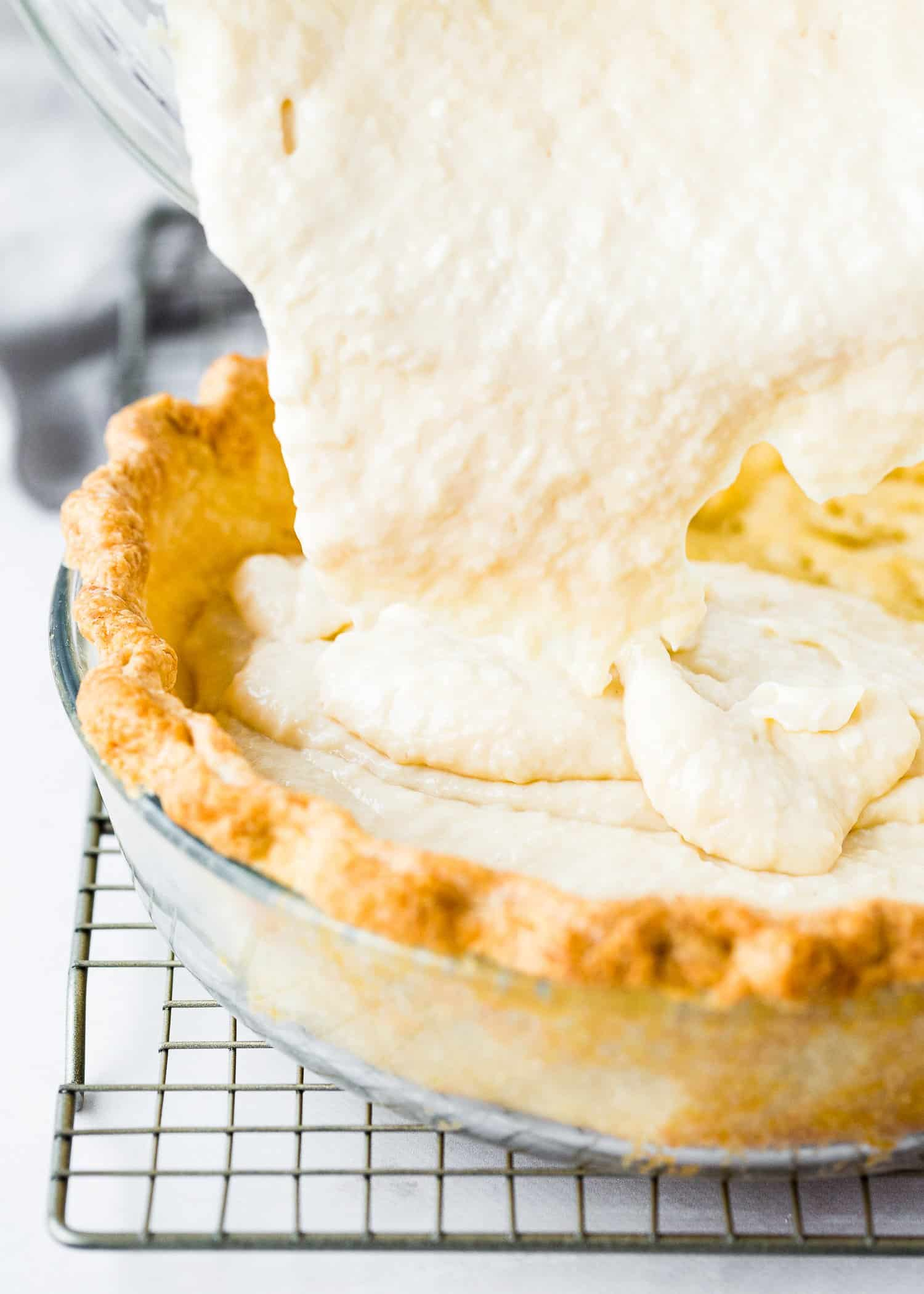 How to Assemble a Eggless Coconut Cream Pie Step 1