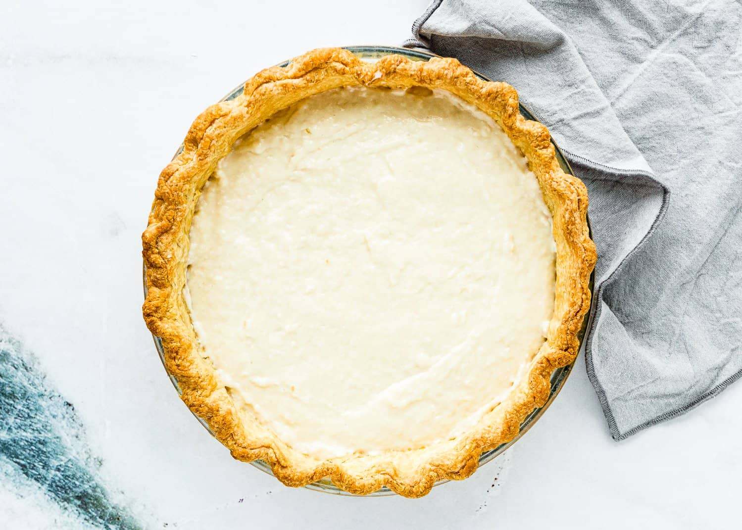 How to Assemble a Eggless Coconut Cream Pie Step 2