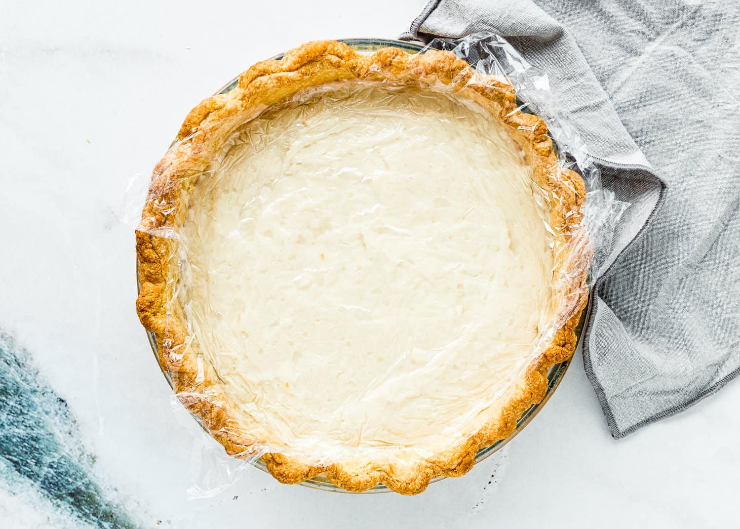 How to Assemble a Eggless Coconut Cream Pie Step 3