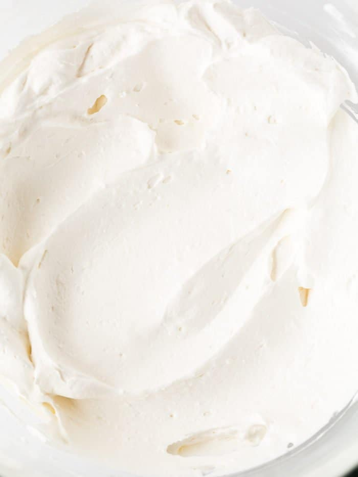 whipped cream for eggless coconut cream pie
