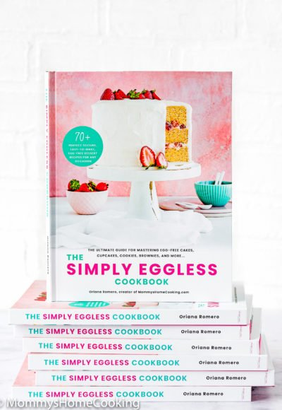 The Simply Eggless Cookbook stack