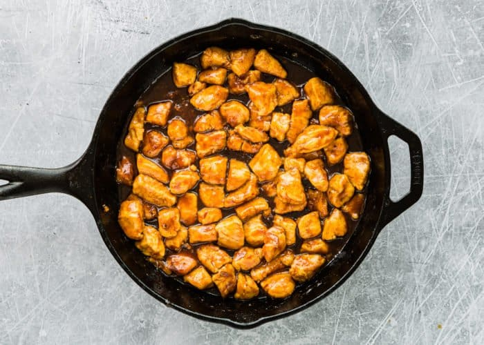 How to Make Easy Sticky Bourbon Chicken step 7