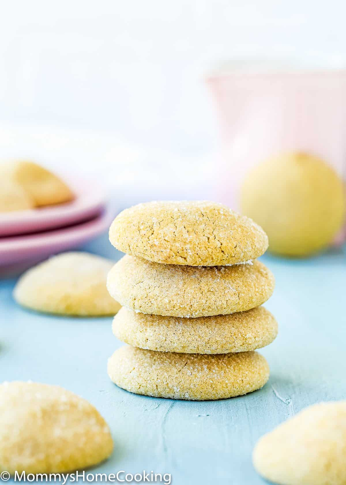 Easy Eggless Brown Sugar Cookies stack